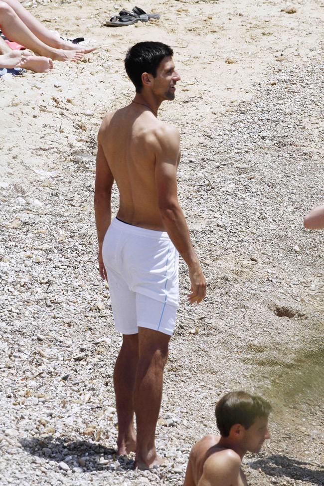 Novak Djokovic à Ibiza le 11 juin 2014
