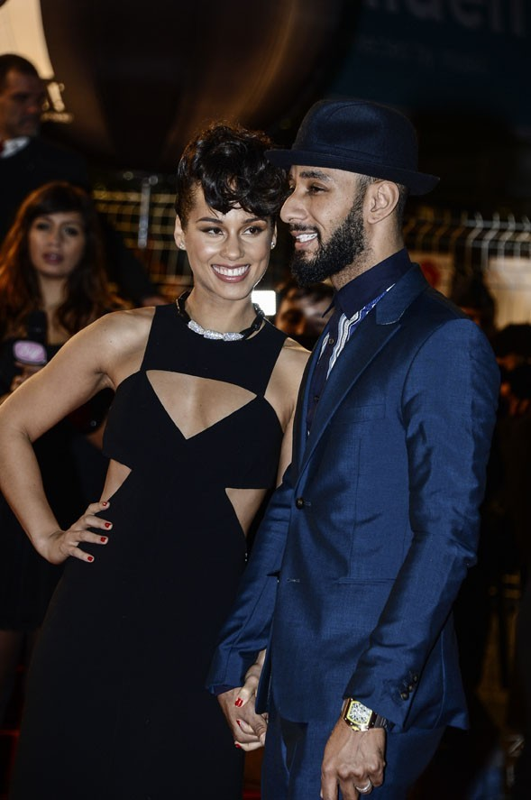 Alicia Keys et Swizz Beatz aux NRJ Music Awards 2013 le 26 janvier 2013 à Cannes