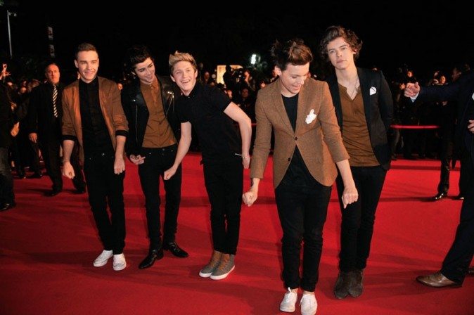One Direction aux NRJ Music Awards, à Cannes, le 26 janvier 2013
