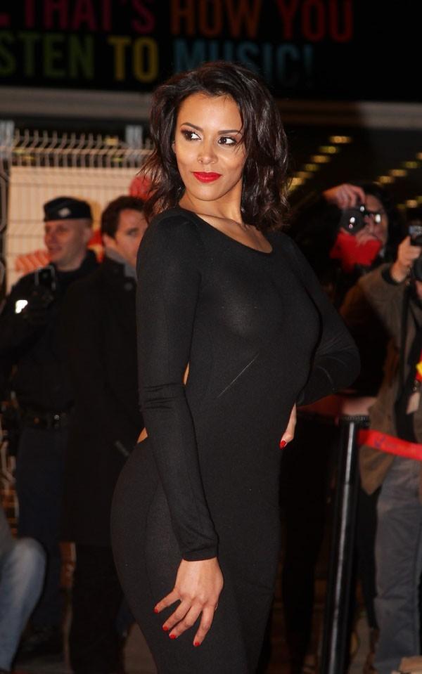 Shy'm aux NRJ Music Awards, à Cannes, le 26 janvier 2013