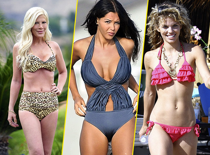 Photos : Tori Spelling, Nabilla... Oh my god Le maillot ! #Fashion Faux pas