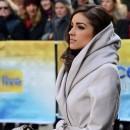 Olivia Culpo, Miss Univers 2013, au Rockfeller Center de New-York le 3 janvier 2013