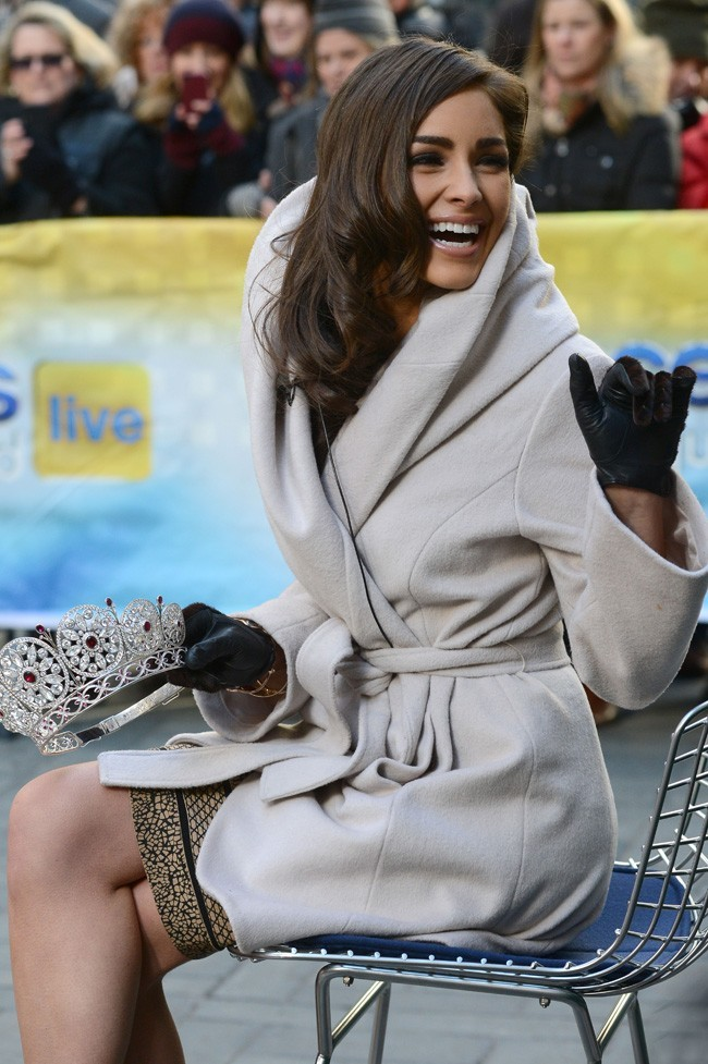 Olivia Culpo, Miss Univers 2013, au Rockfeller Center de New-York le 3 janvier 2013