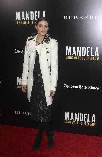 """Olivia Palermo lors de l'avant-première du film """"Mandela : Long Walk To Freedom"""" à New York, le 25 novembre 2013."""