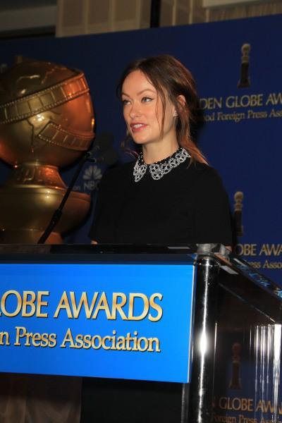 Olivia Wilde lors de l'annonce des nommés aux Golden Globes 2014, le 12 décembre 2013 à Beverly Hills.