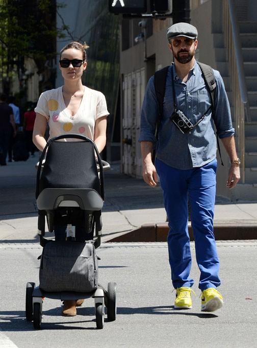 Olivia Wilde et Jason Sudeikis à New-York le 11 mai 2014