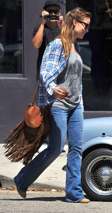 Olivia Wilde dans le quartier de Venice en Californie, le 25 août 2011.