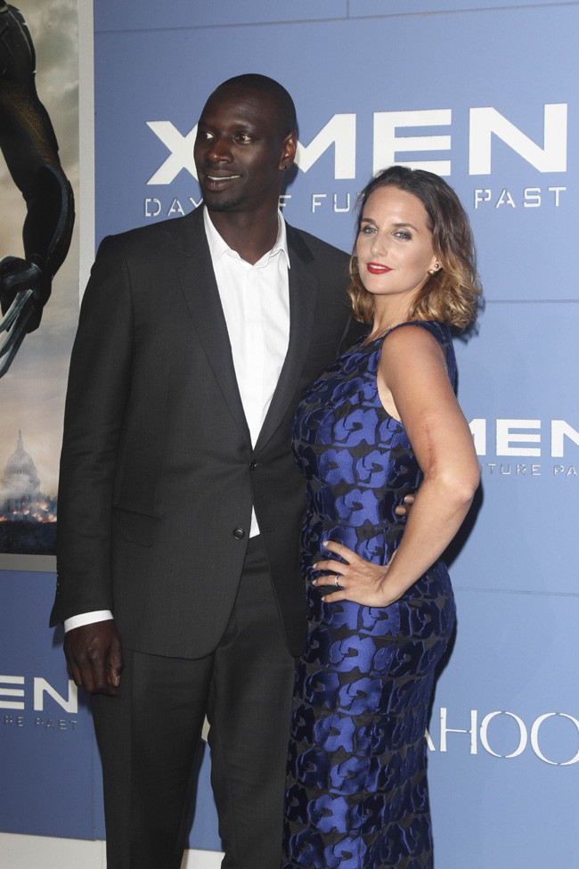 photos omar sy accompagn de sa belle h l ne pour la grande avant premi re d 39 x men days of. Black Bedroom Furniture Sets. Home Design Ideas