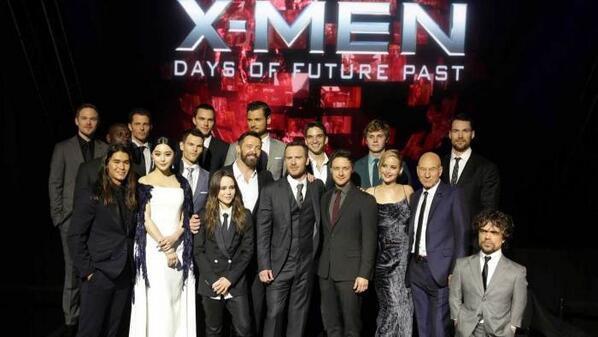 Omar Sy à l'avant-première mondiale d'X-Men : Days of Future Past organisée à New-York e 10 mai 2014