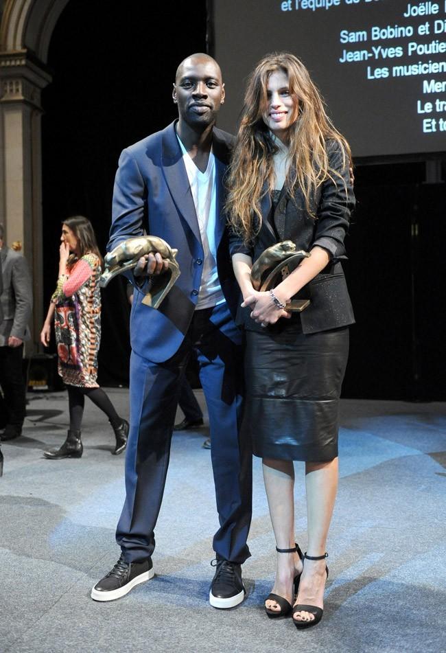 Avec Maiwenn, qui a reçu le prix du meilleur réalisateur !