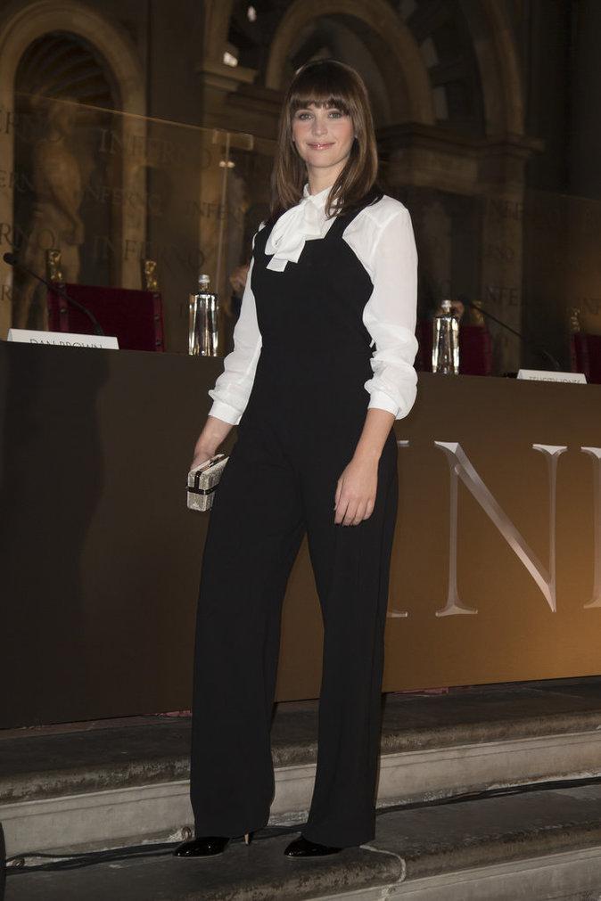 Felicity Jones à Rome le 6 octobre 2016