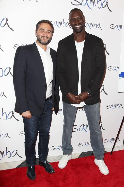 Omar Sy et Olivier Nakache à l'avant-première de Samba à New-York le 16 juillet 2015