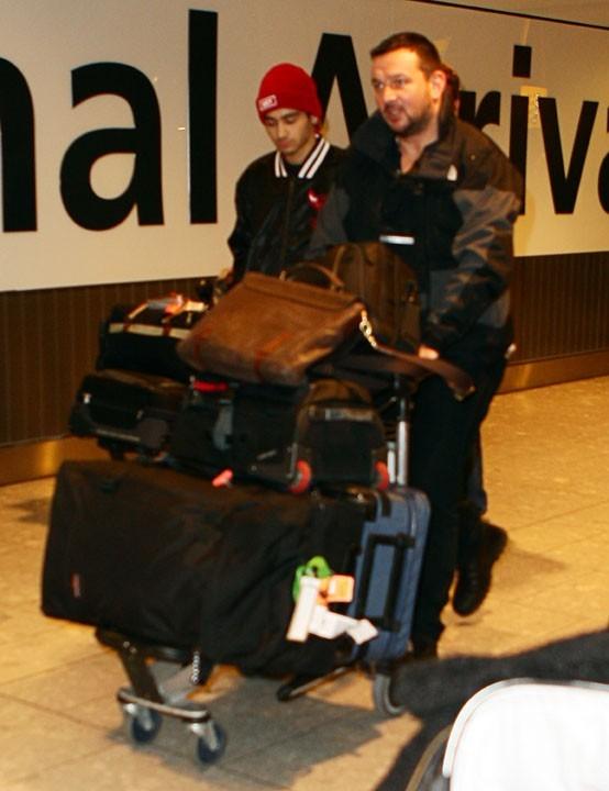 Zayn Malik à l'aéroport Heathrow de Londres le 13 novembre 2012
