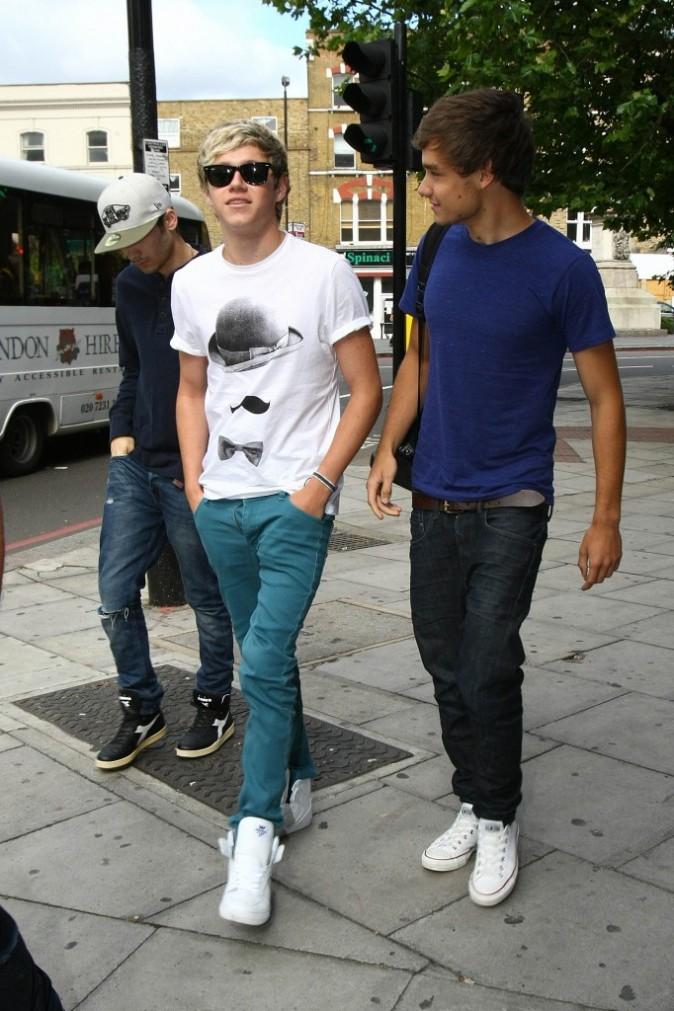 Niall Horan, Zayn Malik et Lyam Payne One Direction, Londres, 19 juillet 2012