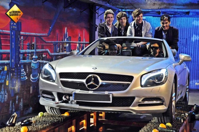 Les One Direction sur le plateau de l'émission espagnole El Hormiguero le 5 novembre 2012
