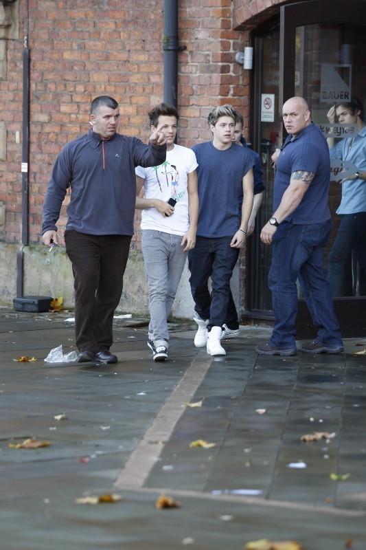 Louis Tomlinson et Niall Horan le 17 octobre 2012 à Manchester