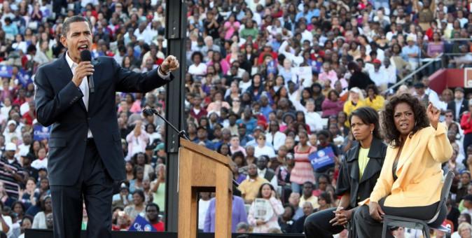 Oprah Winfrey et le couple Obama