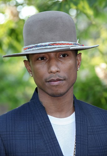 Pharrell Williams à Londres le 1er juillet 2014
