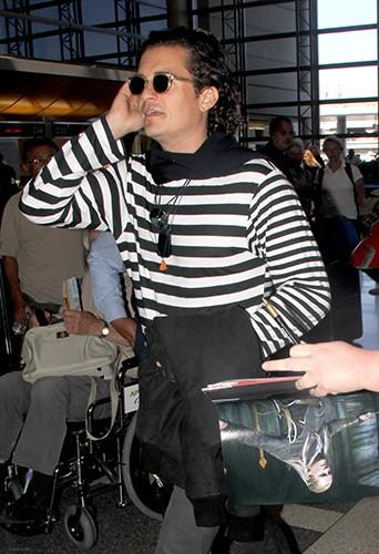 Orlando Bloom à l'aéroport de Los Angeles le 21 septembre 2014