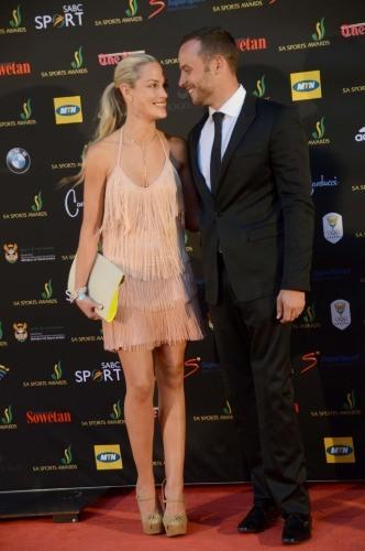 Oscar Pistorius et sa petite-amie Reeva Steenkamp...
