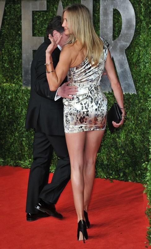 Cameron Diaz parfaitement à l'aise dans sa mini-robe !