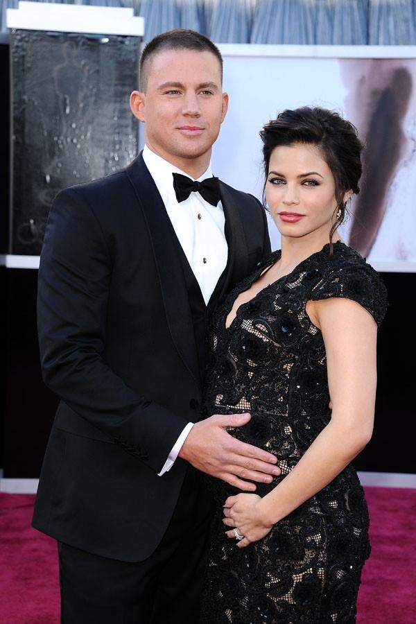 Channing Tatum et Jenna Dewan sur le tapis rouge des Oscars à Los Angeles le 24 février 2013