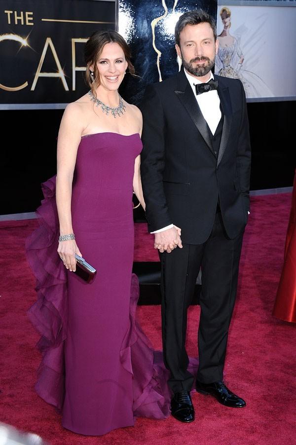Jennifer Garner et Ben Affleck sur le tapis rouge des Oscars à Los Angeles le 24 février 2013