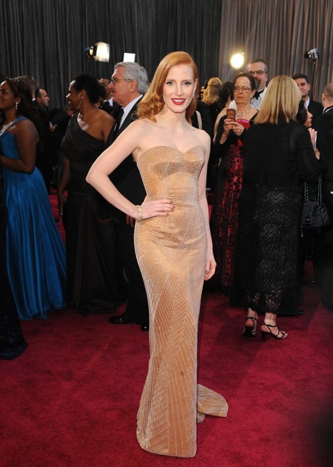 Jessica Chastain lors de la 85e cérémonie des Oscars à Los Angeles, le 24 février 2013.