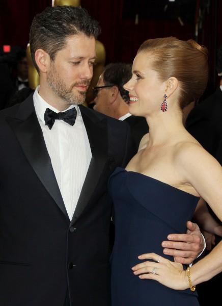 Amy Adams et son fiancé Darren Le Gallo lors de la 86e cérémonie des Oscars à Hollywood, le 2 mars 2014.