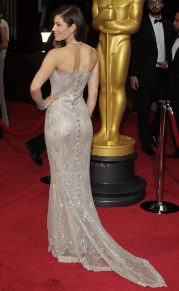 Jessica Biel lors de la 86e cérémonie des Oscars à Hollywood, le 2 mars 2014.