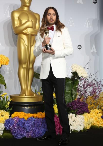 Jared Leto lors de la 86e cérémonie des Oscars à Hollywood, le 2 mars 2014.