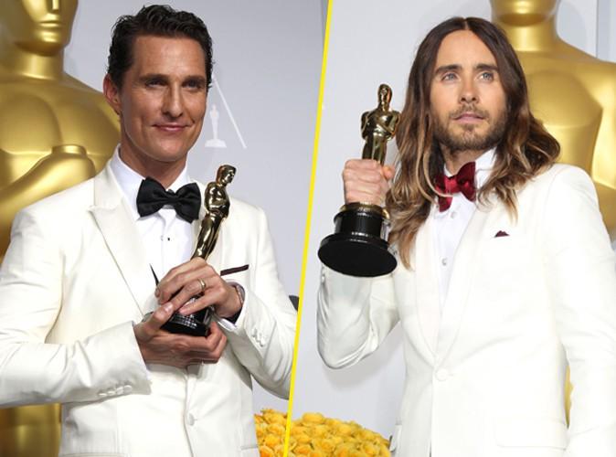 Matthew McConaughey et Jared Leto lors de la 86e cérémonie des Oscars à Hollywood, le 2 mars 2014.