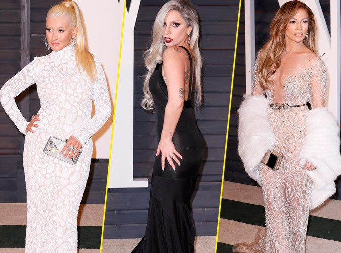 Oscars 2015 : Christina Aguilera, Lady Gaga, Jennifer Lopez : les chanteuses s'emparent de l'after-party Vanity Fair !