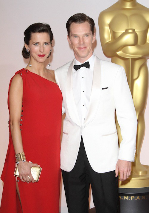 Oscars 2015 : Benedict Cumberbatch et son épouse, Sophie Hunter