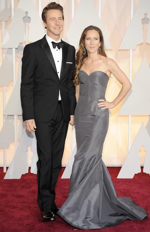 Oscars 2015 : Edward Norton et sa compagne