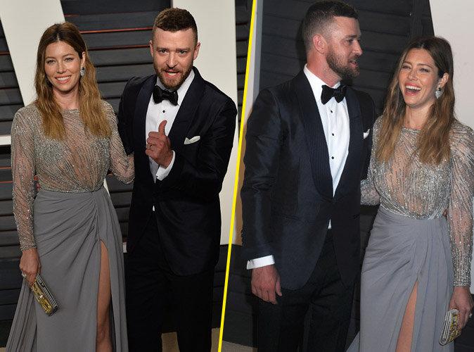Oscars 2016 : Jessica Biel et Justin Timberlake : glamour et complices � la soir�e Vanity Fair !