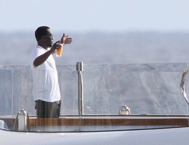 P.Diddy, St Barthelemy, 27 décembre 2012.