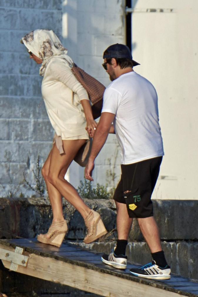 Pamela Anderson en virée nautique avec son mari, le 29 juillet à Copenhague