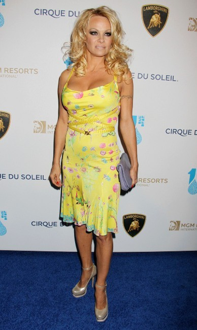 Pamela Anderson, Las Vegas, 22 mars 2013.