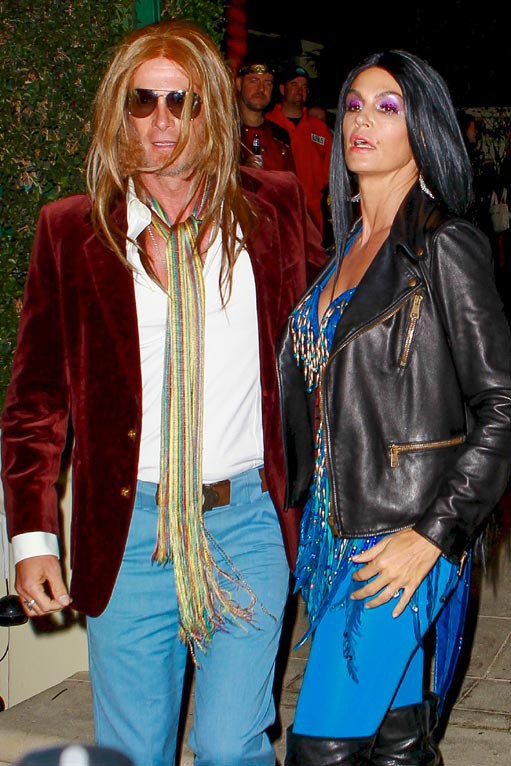 Cindy Crawford et Rande Gerber à la soirée Halloween organisée le 24 octobre 2014 à Beverly Hills