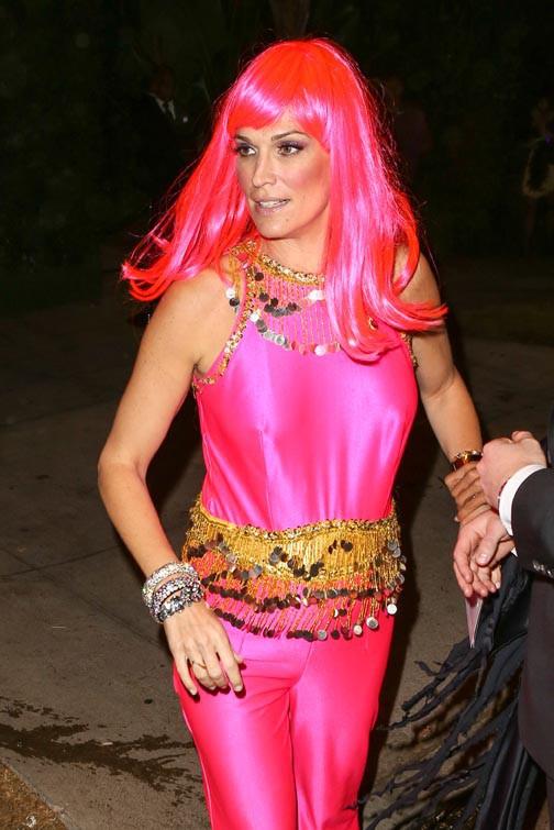 Molly Sims à la soirée Halloween organisée le 24 octobre 2014 à Beverly Hills