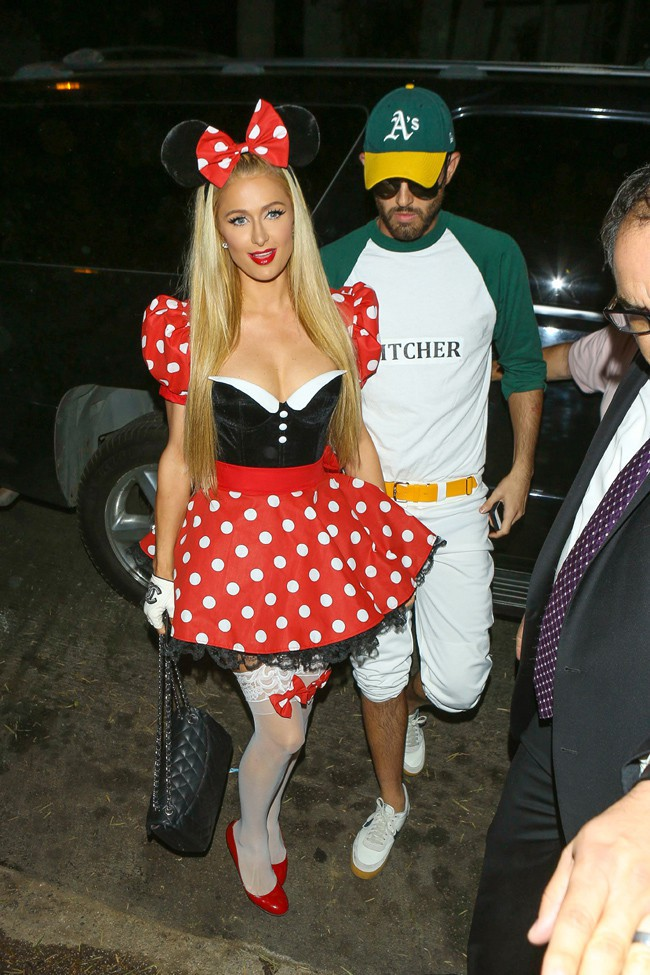 Paris Hilton à la soirée Halloween organisée le 24 octobre 2014 à Beverly Hills
