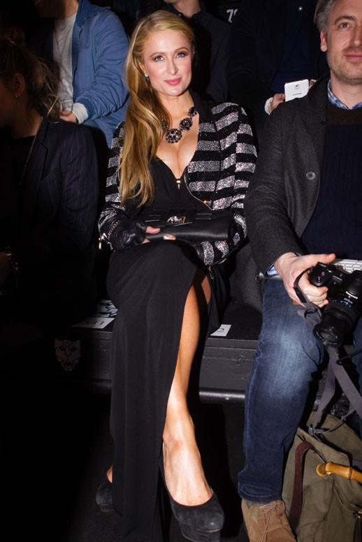 Paris Hilton à la Fashion Week de Milan le 17 janvier 2015