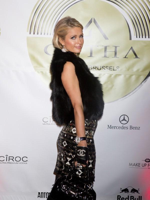 Paris Hilton le 1er février 2013 à Bruxelles