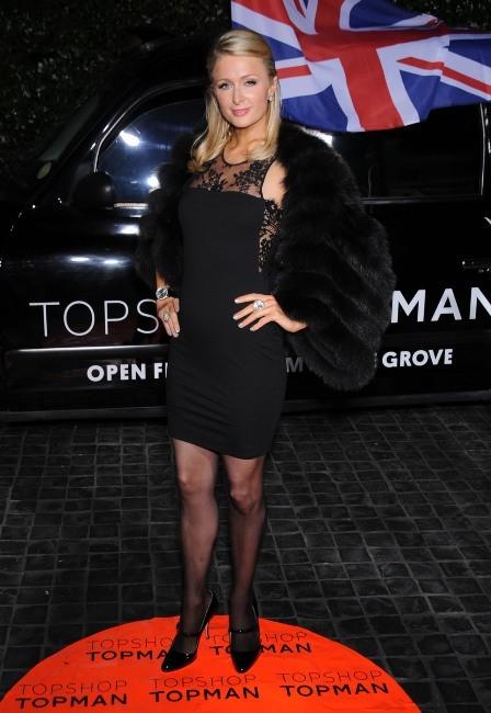 Paris Hilton lors de la soirée Topshop à Los Angeles, le 13 février 2013.