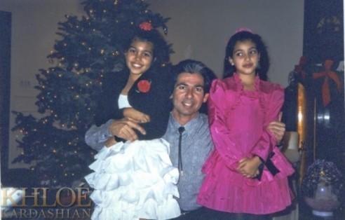 Kourtney, Kim et leur père
