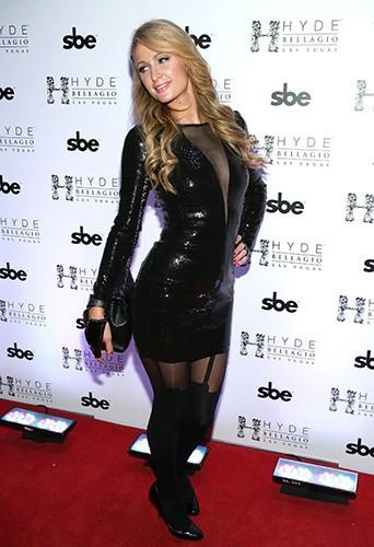 Paris Hilton à Las Vegas le 31 décembre 2013