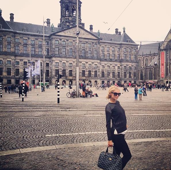 Paris Hilton à Amsterdam