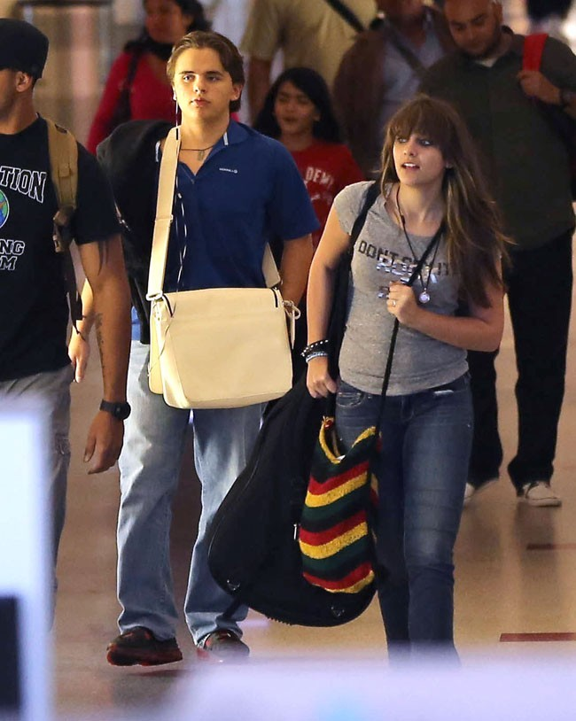 Paris et Prince Jackson le 2 septembre 2012 à Los Angeles