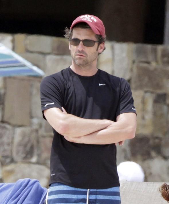 Patrick Dempsey en vacances en famille à San Cabo, au Mexique le 29 mars 2013